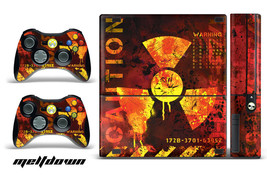 Skin Decal Wrap for Xbox 360 E Gaming Console & Controller Sticker MELTDOWN - $9.85