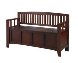Walnut Storage Bench Furniture Home Decor Stora... - $182.15