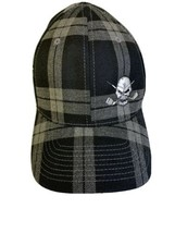 NWOT Tattoo Golf Skull & Golf Clubs Logo Flex Fit Plaid Hat Retail $25 - $19.95