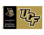 Central Florida Golden Knights Logo 3 Ft. X 5 Ft. Banner Flag With Grommets