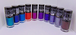 Lot Of 10 Maybelline Color Show Nail Lacquer 0.23Fl.oz/7ml - $16.73