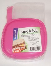 easy·pack lunch on-the-go kit w Reusable Containers & 16oz juice container - $11.88