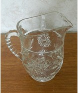 EAPC Anchor Hocking Star of David Prescut Glass Small Syrup Milk Pitcher - $16.71