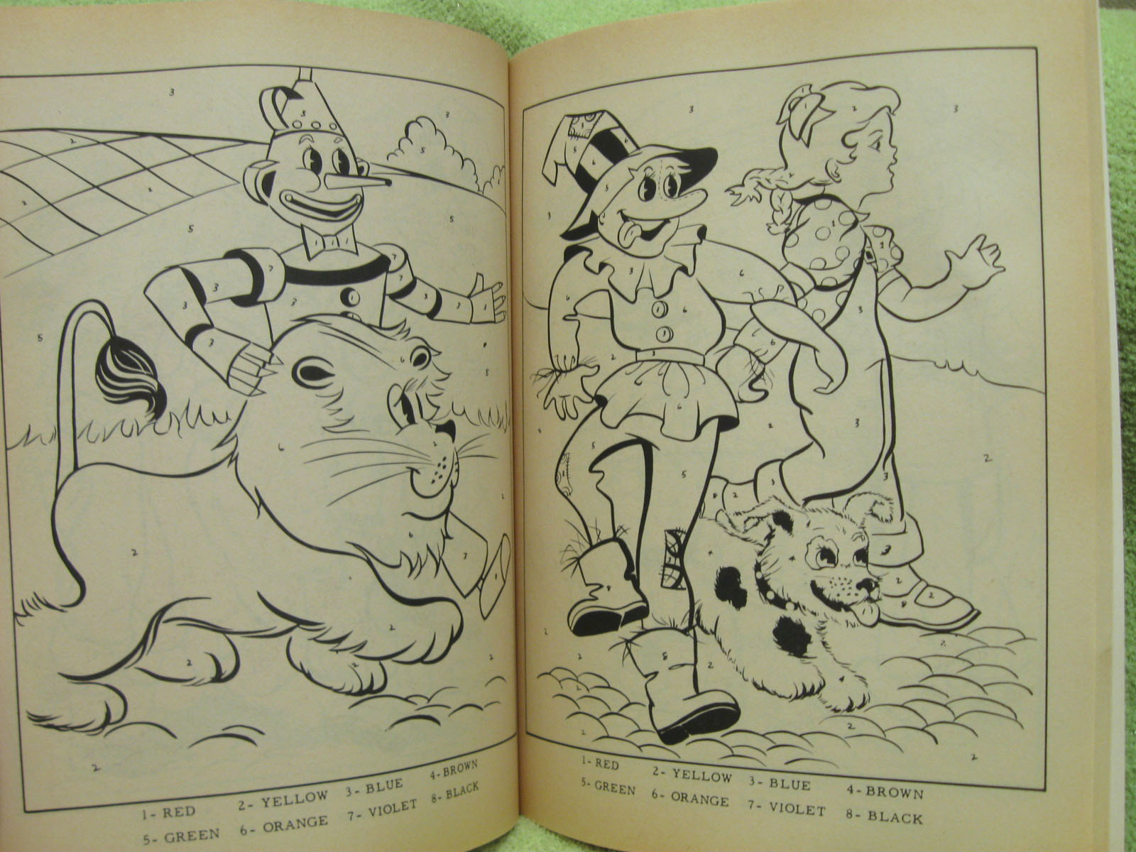 WIZARD OF OZ Vintage Coloring Book UNCOLORED UNUSED Finland COLOR BY ...