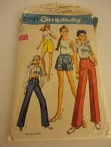 Vintage Simplicity 8741 Pants Shorts Bermudas Pattern from 1970s cut Siz... - $11.87