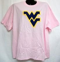 West Virginia Mountaineers Flying WV Light Pink Tee Shirt Size XXL - $13.99