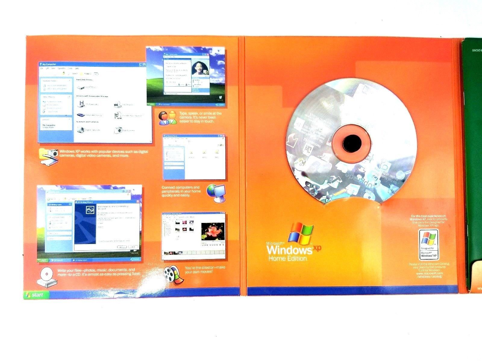 Microsoft WINDOWS XP HOME EDITION Upgrade Version 2002 Software w/ Product Key