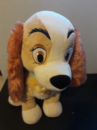 "Disney Store Lady Dog Plush Stuffed Animal Exclusive Jumbo Big 21"" Tall Sitting"