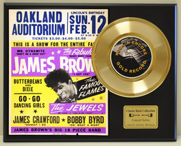 JAMES BROWN  LTD EDITION CONCERT POSTER SERIES GOLD 45 DISPLAY SHIPS FREE - $89.95
