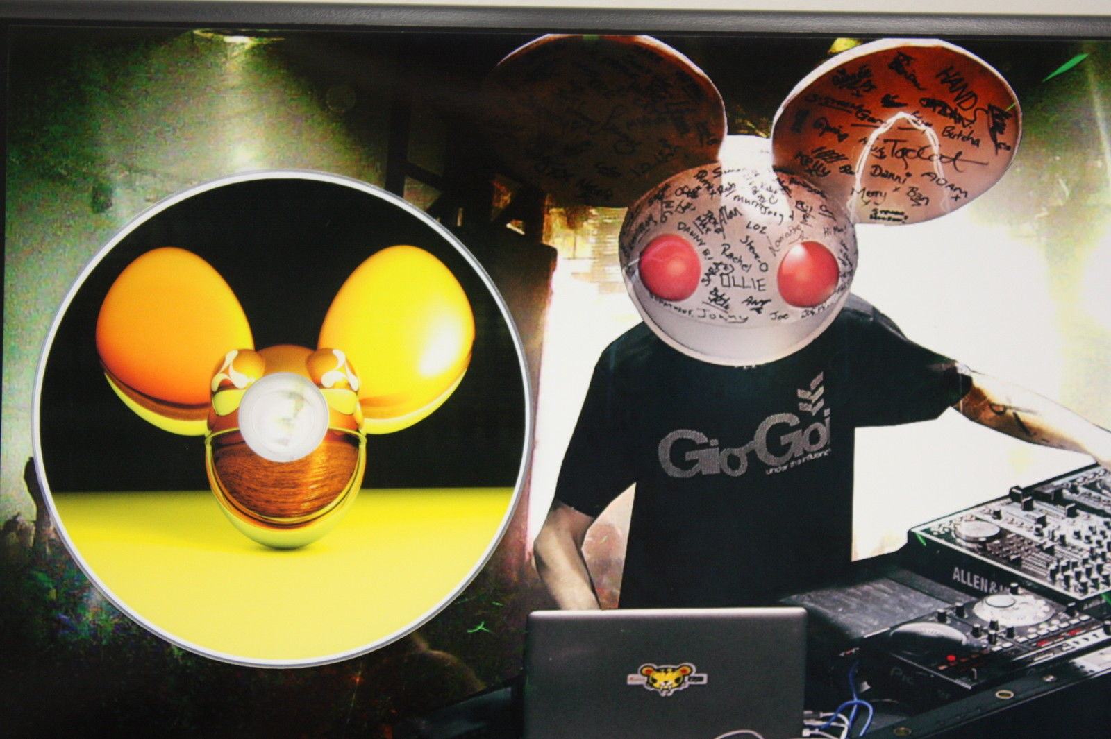 dead mau5 picture cd ltd edition plaque free and similar items. Black Bedroom Furniture Sets. Home Design Ideas