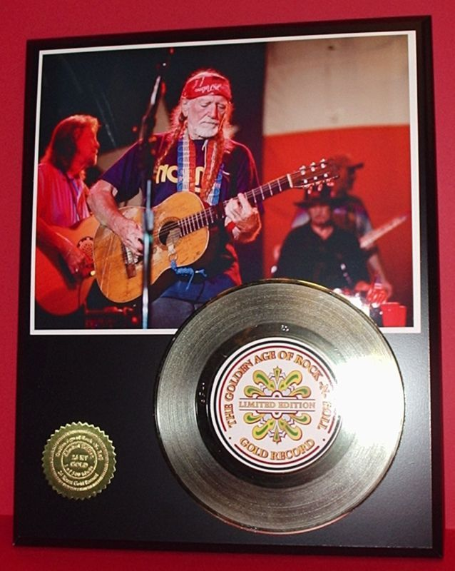 Primary image for WILLIE NELSON 45 RECORD DISPLAY AWARD QUALITY SHIPS FREE