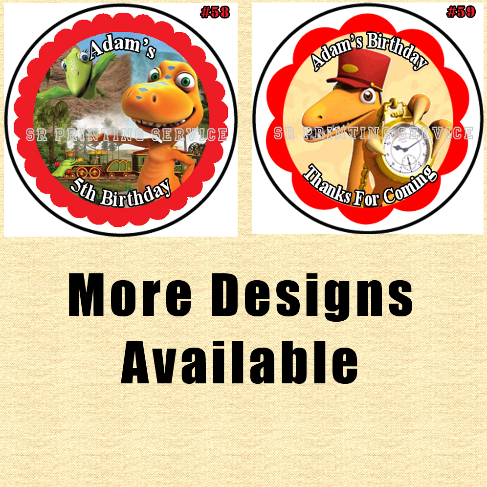 Dinosaur Train Birthday Stickers 1 Sheet Round Personalized You Choose Size