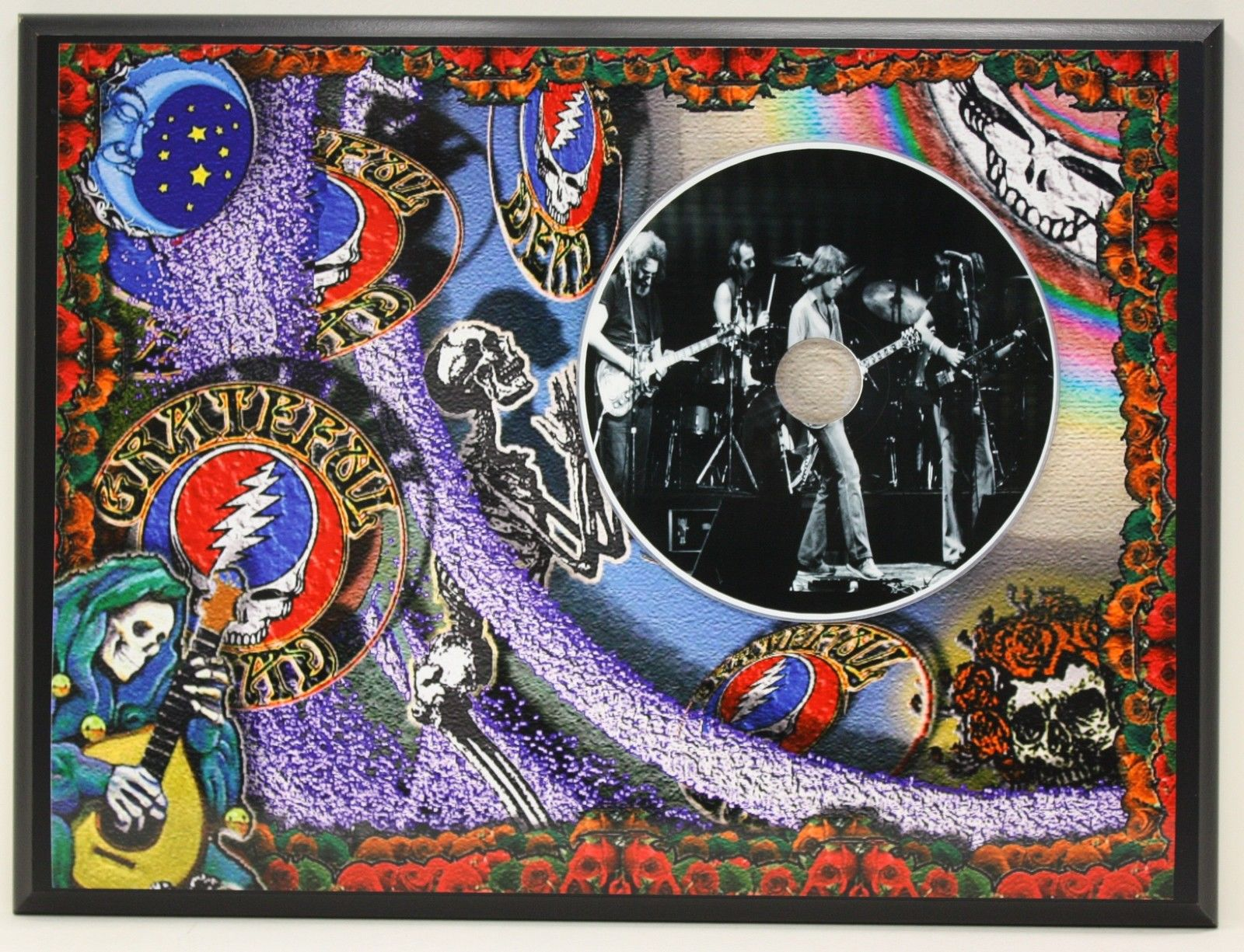 grateful dead picture cd ltd edition plaque free u s priority shipping other. Black Bedroom Furniture Sets. Home Design Ideas