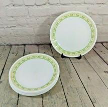 "Set Of 8 Vintage Corning Corelle 8 1/2"" Honeydew Green Flower Plates - $49.49"