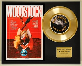 WOODSTOCK LTD EDITION CONCERT POSTER SERIES GOLD 45 DISPLAY - $88.15