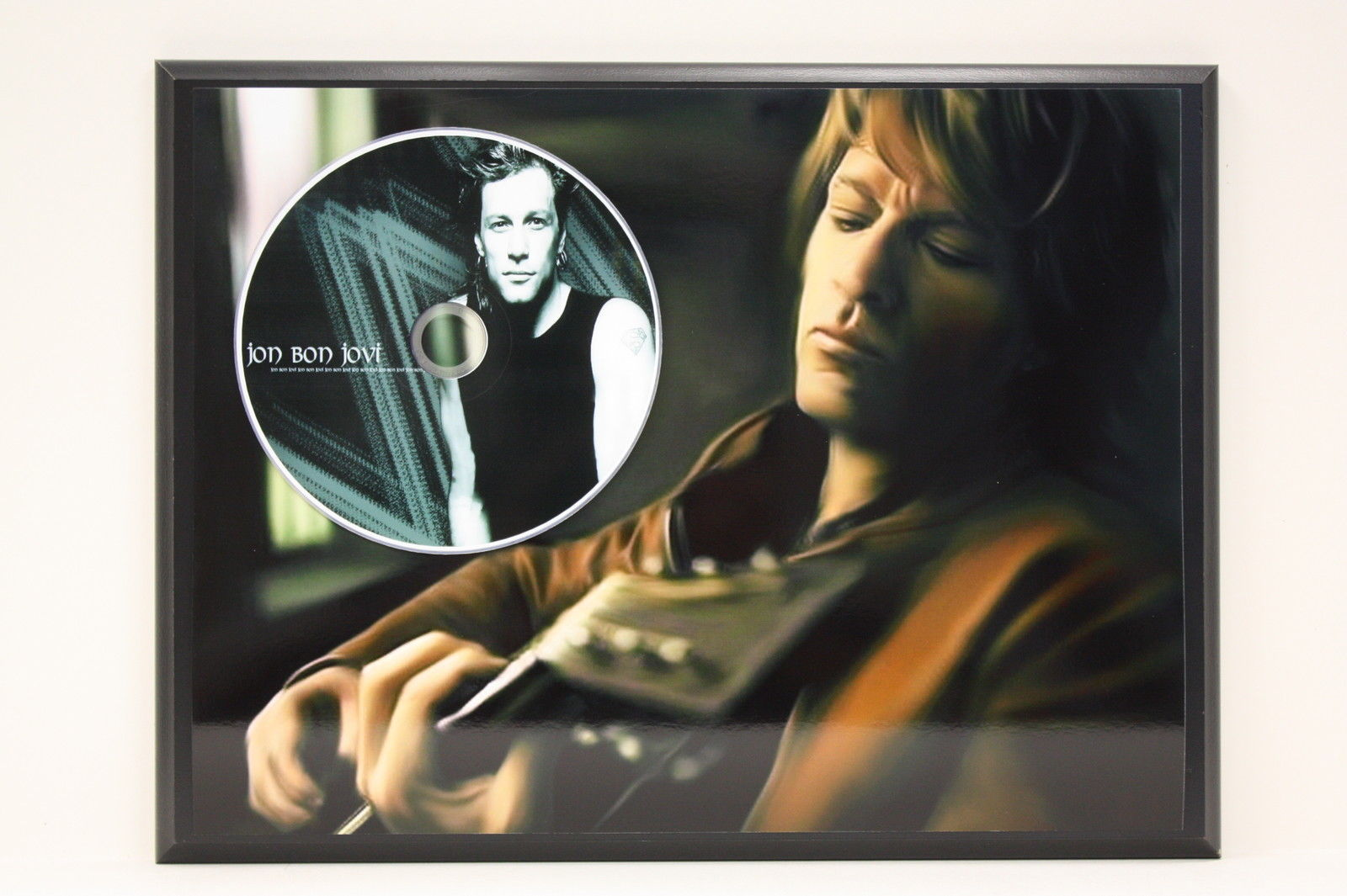 bon jovi picture cd ltd edition plaque free and 25 similar items. Black Bedroom Furniture Sets. Home Design Ideas