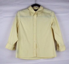 LAUREN Ralph Lauren petite women's shirt cotton lycra yellow size PM - $14.80
