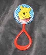 Vintage Winnie the Pooh Bear First Years Plastic Baby Rattle Toy Plastic - $39.59