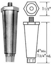Metal Leg Die Cast Zamak 3/8 16 stud CHG A60-1651 KASON WELLS VULCAN  HA... - $8.90