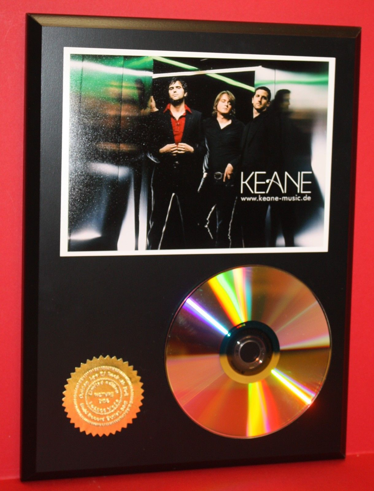 keane alternative 24kt gold cd disc collectible rare award quality plaque other. Black Bedroom Furniture Sets. Home Design Ideas