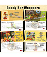 Dinosaur Train Birthday Candy Wrappers 10 each Personalized Custom Made - $10.00