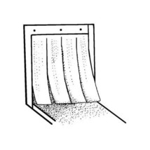 CURTAIN, DISHWASHER 22.5X17.5 HOBART 271084 120152-8 MIDDLEBY MARSHALL A... - $58.40