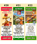 Dinosaur Train Birthday Invitations 10 each with Envelopes Personalized - $11.00