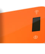 Orange Kitchen Scale ONYX-5K, .1oz-11lbs, by American Weigh - $26.99