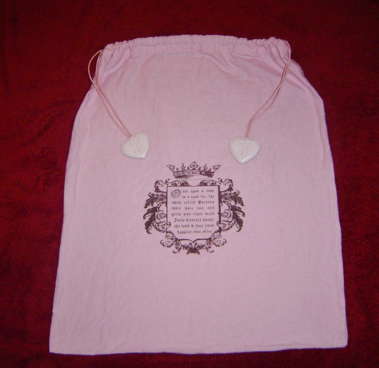 Primary image for 2-Juicy Couture dust cover bags 171/2 x 20 & 9 1/2X13