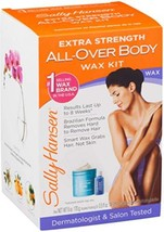Sally Hansen Extra Strength All-Over Body Wax Hair Removal Kit 1 ea Pack of 4