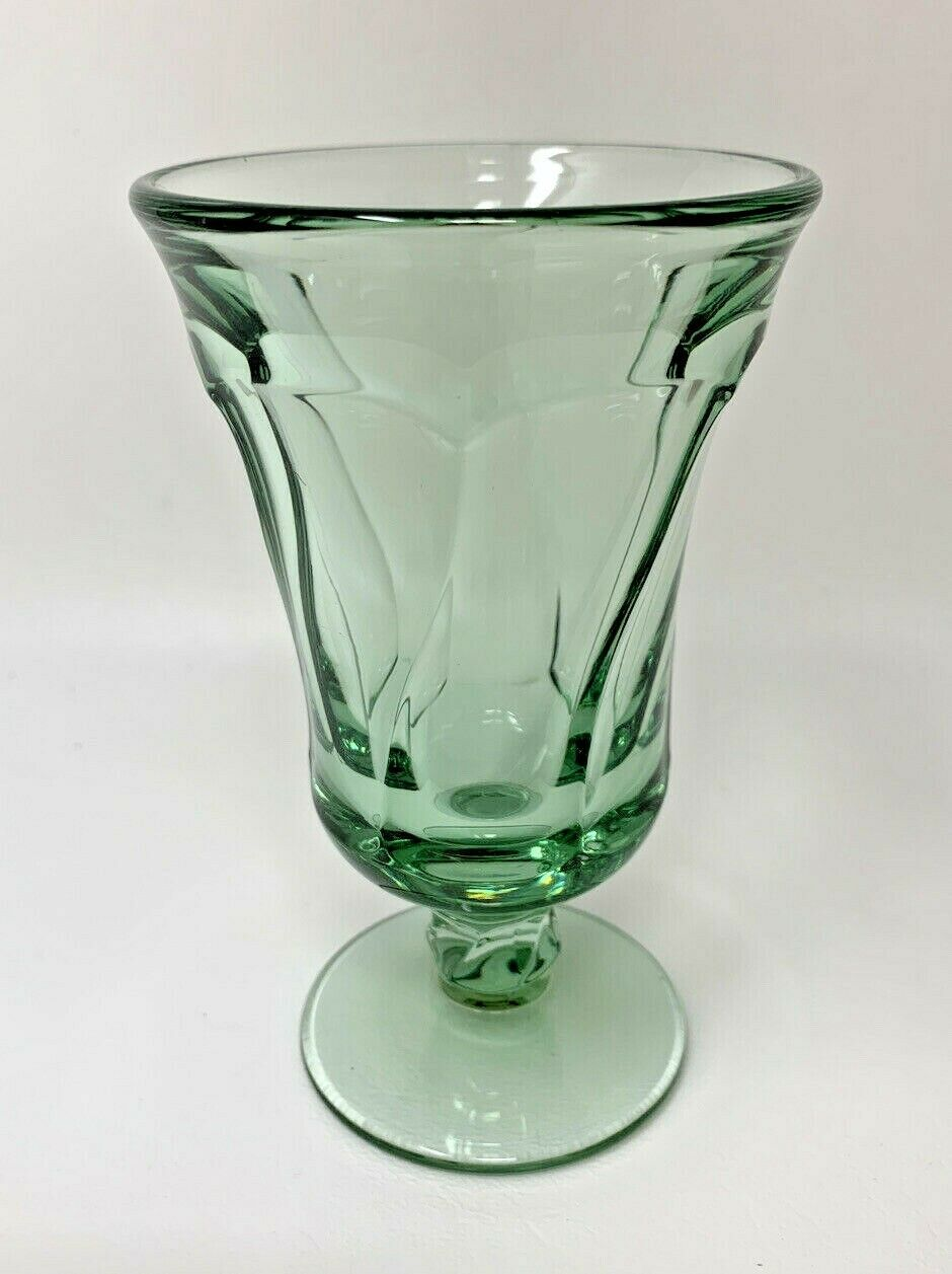 "Primary image for Fostoria Jamestown Juice Goblet / Footed Tumbler GREEN 4-3/4"" Tall (7123)"