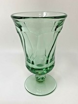 "Fostoria Jamestown Juice Goblet / Footed Tumbler GREEN 4-3/4"" Tall (7123) - $15.19"