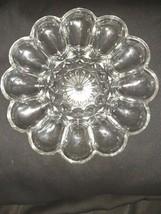 """Vintage Anchor Hocking 10"""" Clear Glass Deviled Egg Plate Serving Platter - $6.43"""