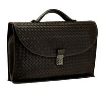 BOTTEGA VENETA 170238 V7787 1301 Briefcase Bag Intrecciato Dark Brown - $1,285.02