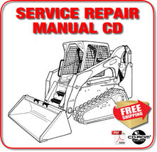 Bobcat T320 Mini Track Loader Service Repair Manual 2-in-1 CD - $29.98