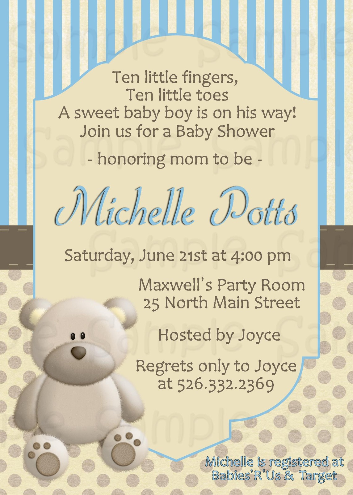 Teddy bear Custom, Personalized Invitation, and 50 similar items