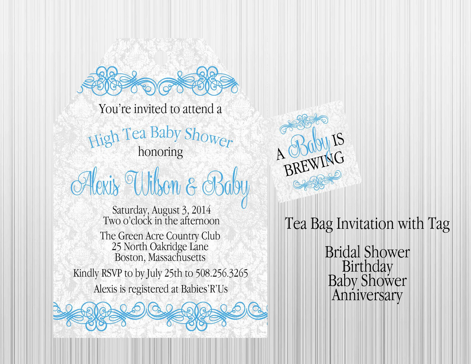 Blue Boy Tea Baby Shower Invitation And 50 Similar Items