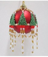 W537 Bead PATTERN ONLY Beaded Christmas Tree Ornament Cover Pattern - $9.50