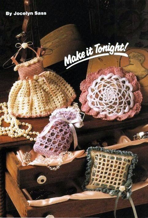 W539 Crochet Pattern Only 4 Scented Sachets And 50 Similar Items