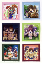 CLANNAD クラナド Kuranado anime CLOTH PATCH SET 1 (... - $19.00
