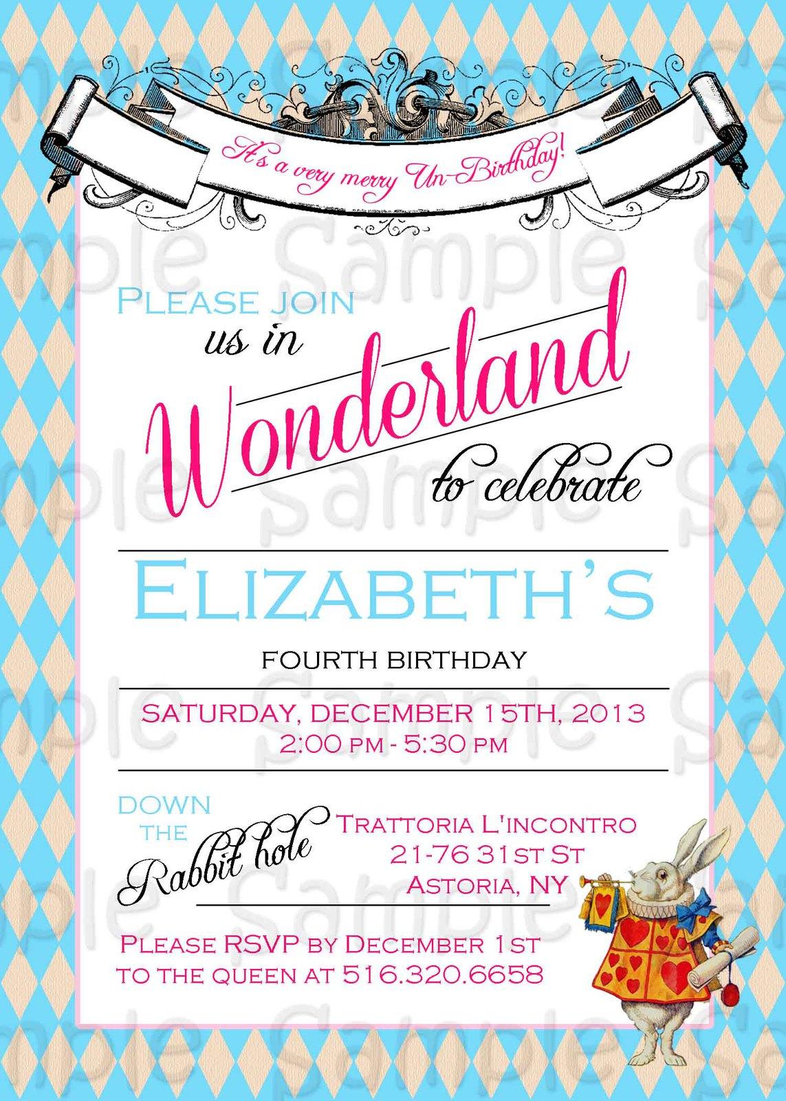 Alice in Wonderland Custom Baby Shower, and 47 similar items