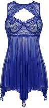 ADOME Lingerie for Women Lace Babydoll Nightdress Sexy Sleepwear Nightie with Ke image 11
