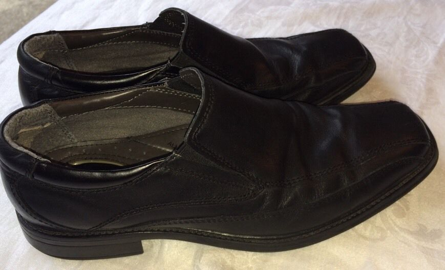Mens Dockers Black Dress Shoes Slip On Loafers Size 8.5