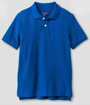Boys' Short Sleeve Uniform Polo Shirt - Cat & Jack Blue XS 4/5 - $5.14