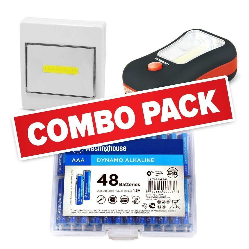 Everyday Household Combo - 48AAA Alkalines, 2 in 1 and a Multipurpose Flashlight image 2