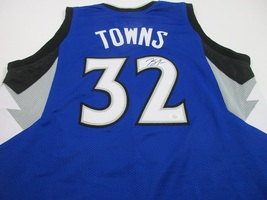 Karl Anthony Towns Minnesota Timberwolves signed custom basketball jerse... - $129.95