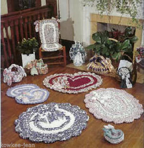 Rag crochet patterns rugs baskets scalloped,see pics ...