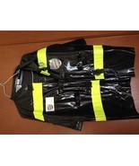 FIREMAN Kids Halloween Costume Med. 8-10 worn 1X NICE! - $15.73