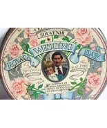 Collectible Vintage Metal Tin Lady Di & Prince Charles Royal Wedding Day... - $19.79