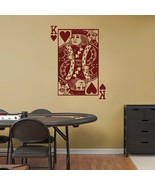 KING of HEARTS Playing Card Poker Blackjack Vinyl Wall Sticker Decal - $29.99